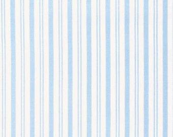 Sadie's Dance Card BLUE Sky Stripe PWTW127-SKY Cotton Fabric by Tanya Whelan FreeSpirit