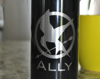 Personalized Water Bottle, Sports bottle, Travel Mug, Customized Your Design choice,Hunger Games fan by JackGlass.etsy.com