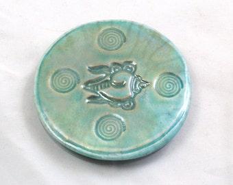 MAGNET SEASHELL  Raku Fired Pottery Ceramic 8 gifts