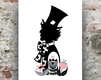 Mad Hatter Print / Alice in Wonderland Print / Mad Hatter Illustration