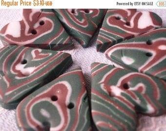 50% OFF - SALE - SALE - sale - Cuoriestivi - 7 Polymer Clay Buttons