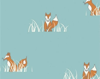Birch Fabrics - Camp Sur Collection - Sly Fox in Turquoise Organic