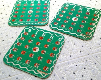 Vintage BINGO Cards (Set of 3)