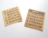 Vintage Deadstock Bingo Sheets, Vintage Bingo Paper Cards, Bingo Ephemera, Bingo Mixed Media Supplies