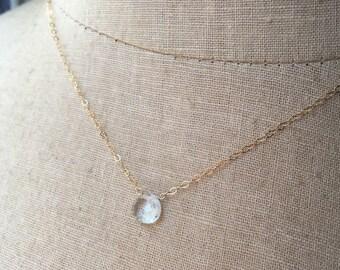 Aquamarine Necklace, Birthstone Necklace, March Birthstone, Birthstone Jewelry, Bridesmaid Necklaces, Something Blue, Spring Wedding, Aqua