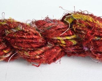 Banana Fiber Ruby Red Yarn, Fair Trade Yarn  - One Skein of 65 Yards, 4 Worsted Weight