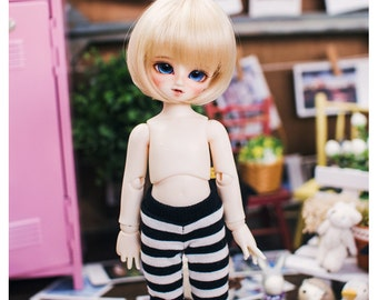 Yo-SD horizontal line leggings - Black