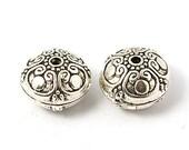 Antique Silver Tibetan Style Beads (16mm) - Metal Beads