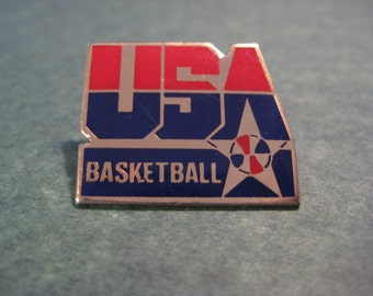 USA Basketball Pin by Peter Davis inc., Peter Davis USA Basketball Pin, Basketball Memorabilia, Basketball Collectibles,USA Collectible