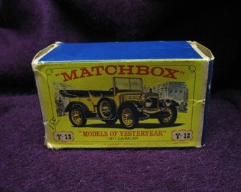 "Box for Y-13 New Model 1911 Daimler Matchbox ""Models of Yesteryear"""