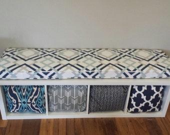 Ikea kallax custom cushion for nursery playroom for Ikea panche