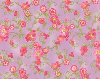 Floral Flourish in Violet  COLETTE by Chez Moi ... Purple colorway ...choose your cut Moda 33051  13