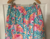 Handmade skirt with Lilly Pulitzer fabric Tusk in Sun, Lilly's Lagoon, First Impressions, Rule Breakers, Oh Shello, Peel and Eat and more