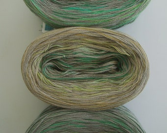 GREEN CONFETTI -- Sport Weight -- Cotton yarn (100 gr /320 yards)