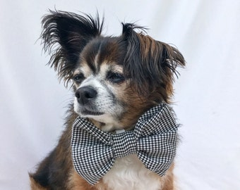 Houndstooth Pet Dog Bowtie