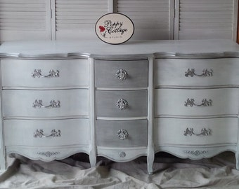 Dresser Low Boy French Provincial Dresser Poppy Cottage Custom PAINT to ORDER Vintage Painted Furniture
