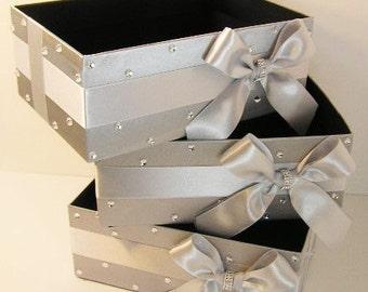 Wedding  Program Box Amenities Box Bathroom Accessories Box handkerchiefs Box - Customize your color (One Box)