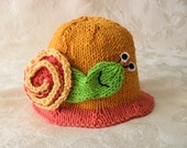 Baby Hats Knitting Knit Baby Hat Hand Knitted Snail Baby Hat Turbo Baby Sunhat Unisex baby hat Knit Snail sunhat Knit Beach Hat