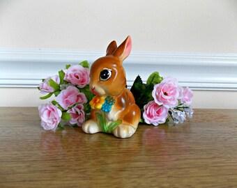 Vintage Rabbit Figurine, Napcoware, Napco, Rabbit, Bunny, Spring, Summer, Rabbit Statute, Ceramic Figurine