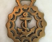 vintage Anchor nautical horse brass