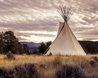 Tepee Ute Indians Colorado Mountains Ridgway Rustic Cabin Lodge Photograph