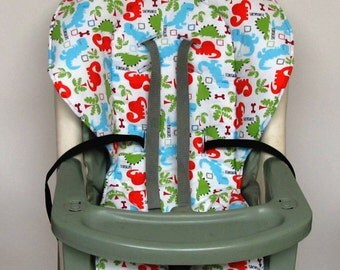 Graco high chair cover, chair cushion, kids and baby feeding chair, baby accessory, chair pad replacement, nursery, child care, dinosaurs