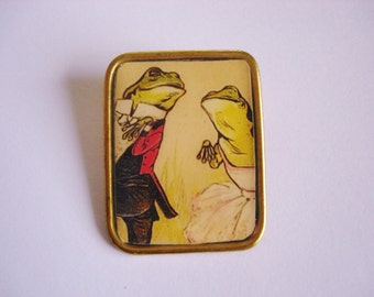 Dancing Frogs Brooch