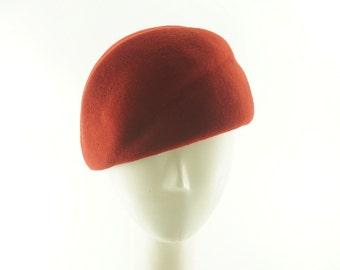RED CLOCHE HAT for Women / Art Deco Hat / Handmade by Marcia Lacher Hats