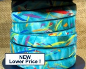 10mm European Printed Leather - Turquoise Fiesta - 10mm Flat Leather - 10F-P5 - Choose Your Length