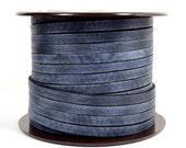25% OFF 5mm Flat Vintage Leather - Midnight Blue - 10FV-10 - Choose Your Length