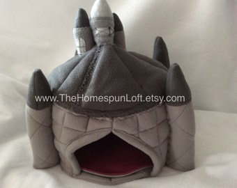 Pet Hide Round Castle Hedgehog Guinea Pig Pocket Pet House Fleece Pet Home Custom Order Item Made to Order