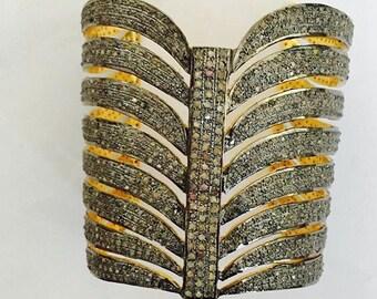 Diamond Encrusted Cuff Bracelet