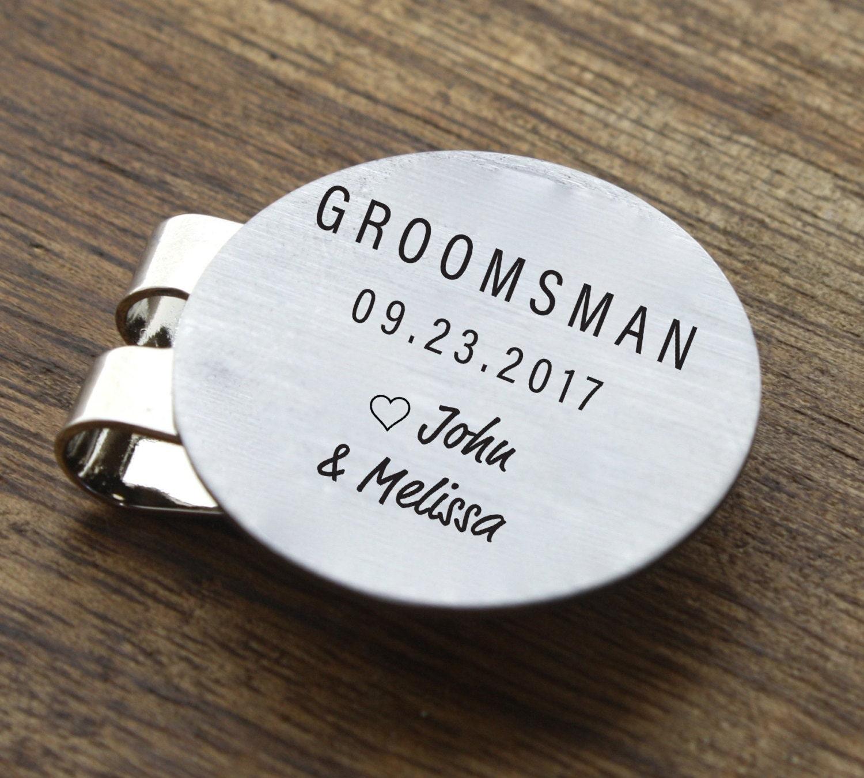 Wedding Gifts For Groomsmen Golf : Groomsmen Golf Ball Marker Personalized Mens by sierrametaldesign