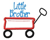 SAMPLE SALE ---LITTLE Brother Wagon Shirt -Free Personalization!!!