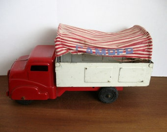 1950's Steel Structo Camper Truck with Cloth Canopy