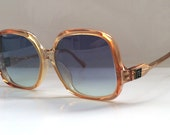 70s Vintage French Pierre Balmain Small Coral Square Frame Ladies Child Sunglasses