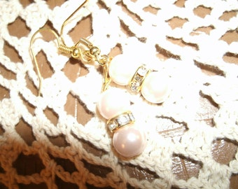 Blush Pink Pearl Drop Earrings