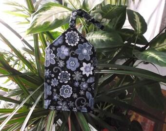 Blue Flowers Luggage Tag