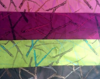 Martha Negley twigs, half yard bundle, OOP, hard to find, Kaffe collective, early Westminster fabric