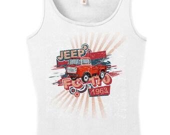 White Vintage look Jeep FC170 tank
