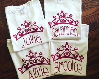 Princess name t shirt