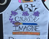 Have an artist?  Special order an apron for them! Great for art, cooking and more. Fits kids - adults. 100% cotton twill