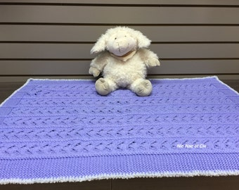 Point lace baby blanket