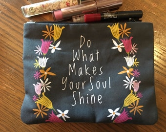 inspirational quote zipper bags  new quote