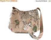 Small Purse Chinese New Year bag Unique shoulder bag Chinese characters story Asian cotton fabric shoulder bag purse, caroljoyfashions77 RTS