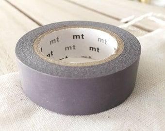 Solid Purple Gray Washi Tape Japanese Purple Gray masking tape (196) - PrettyTape