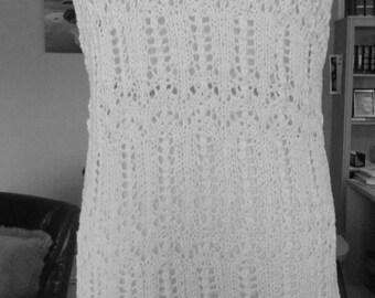 Summer white cotton top-tunic no. 277