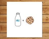 New Twin Baby Shower Card - Milk & Cookies Gender Neutral Congratulations Greeting