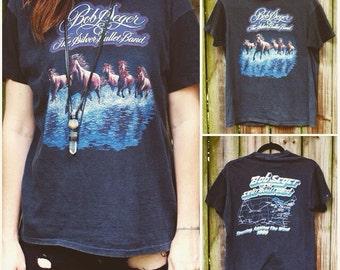 Vintage 1980 Bob Seger and the Silver Bullet Band concert tour shirt- Size Medium Large