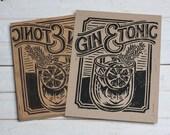 Gin & Tonic -  Block Print